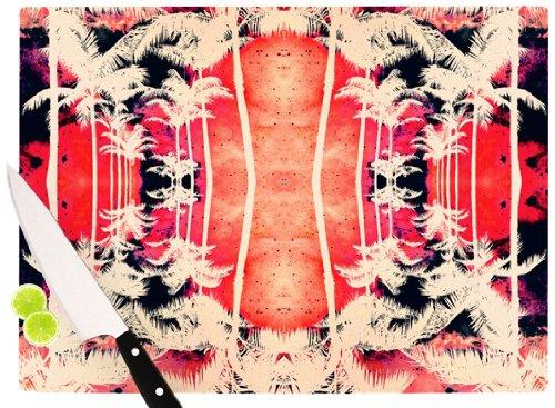 Kess InHouse CT2008ACB02 Caleb Troy Pink Lemonade Palm Trees Cutting Board 115 by 1575-Inch