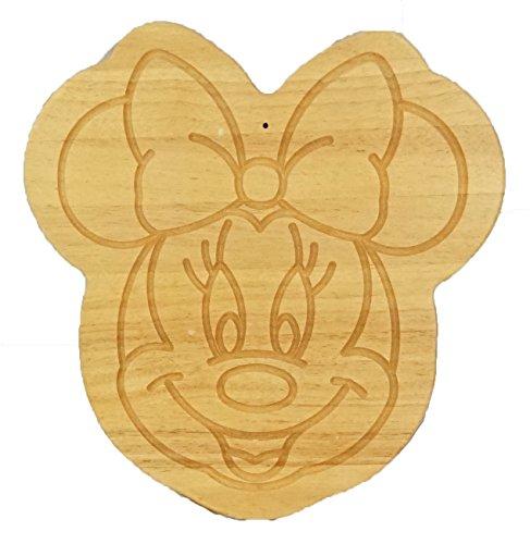 Walt Disney Minnie Mouse Rubberwood Tree cutting board 14x13