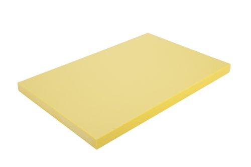 Alegacy PEM1218MY Medium Density Polyethylene Color Coded Cutting Board 12x18x34 Yellow