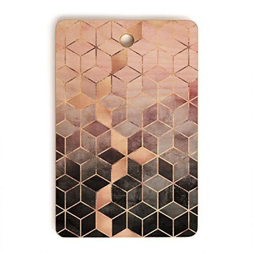 Society6 Elisabeth Fredriksson Pink Grey Gradient Cubes 2 Cutting Board 16 x 105 x 12 5lb Multi