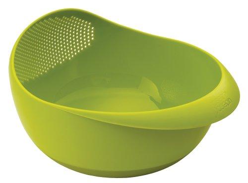 Joseph Joseph 40063 Prep Serve Multi-Function Bowl with Integrated Colander Large Green