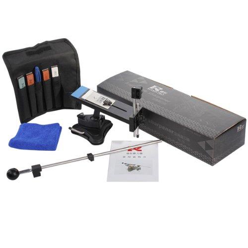 Knife Sharpener AGPtEK Second Professional Kitchen Knives Sharpen Tool System Fix-angle With 4 Stones120 320 600 1500