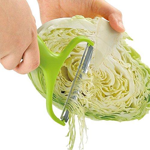 Vegetable Fruit Peeler Cabbage Grater Cutter Slicer Stainless Steel Blade Useful