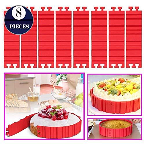 8 PCS Silicone Cake Mold Woohome Cake Pan Snake DIY Baking Mould Magic Bake Tools - Design Your Cakes Any Shape