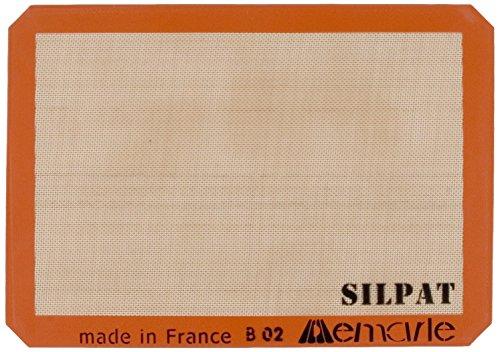 Silpat AE420295-07 Premium Non-Stick Silicone Baking Mat Half Sheet Size 11-58 x 16-12