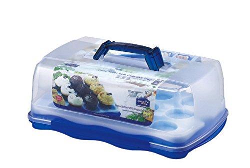 LOCK LOCK Cake Storage Box with-Cup Cake Tray