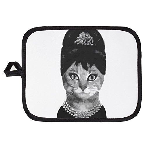 CafePress - DIVA CAT - Pot Holder Heat Resistant Fabric Trivet