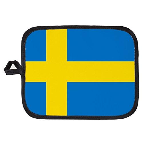CafePress - Square Swedish Flag - Pot Holder Heat Resistant Fabric Trivet