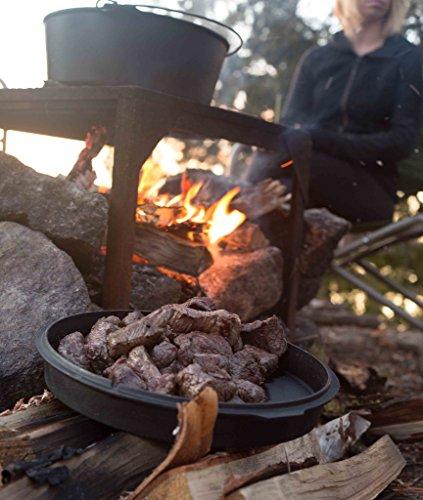 Camp Chef DO-12 Pre Seasoned Cast Iron Dutch Oven Black