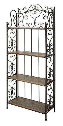 Deco 79 69872 Metal Wood Baker Rack 27 by 68-Inch