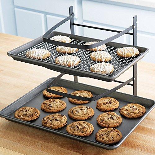 Linden Sweden Bakers 4-Tier Adjustable Metal Cooling Rack