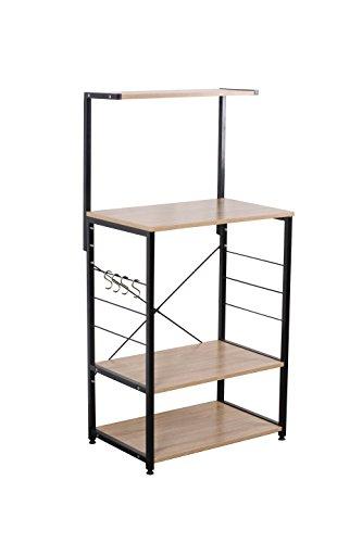 Uniware Professional Wooden Kitchen ShelfBaker Rack 4 Tier Shelves 2362L x 1575W x 4843H