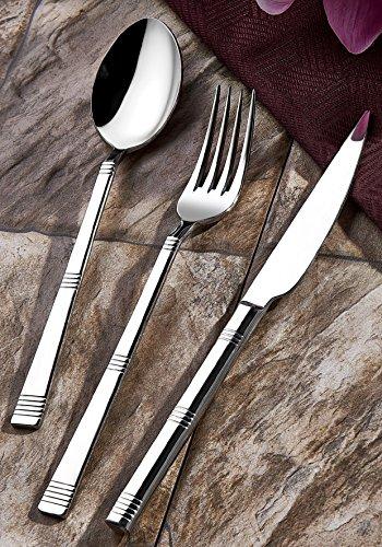 Olinda 1810 Real Stainless Steel silverware set 20 pcs Flatware set hammered flatware silverware Stainless steel tableware set Line