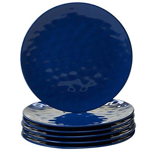 Cobalt Blue Melamine Dinner Plates Pack of 6