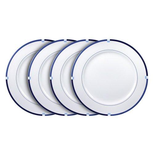 Mikasa Jet Set Blue Dinner Plates 11-14-Inch Set of 4