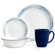 Corelle 16-Piece Livingware Ocean Blues Dinnerware Set