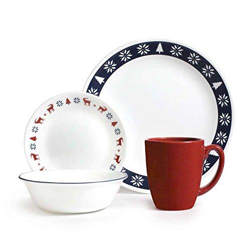 Corelle Livingware 16-Piece Dinnerware Set Nordic Blue Service for 4