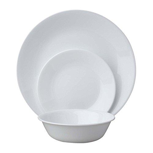 Corelle Livingware 18-Piece Dinnerware Set Winter Frost White Service for 6