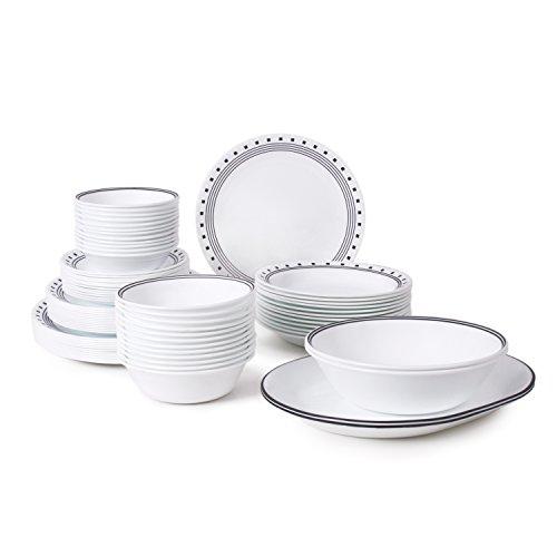 Corelle Livingware 76-Piece Dinnerware Set Service for 12 City Block