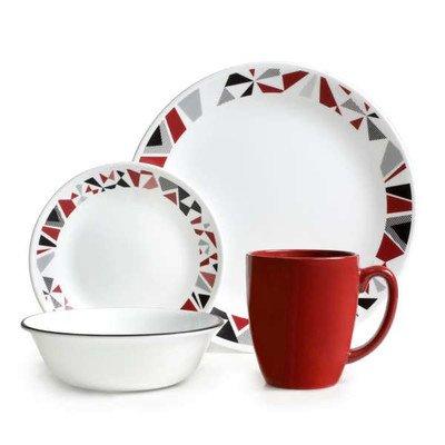 Corelle Livingware Geometric 16 Piece Dinnerware Set