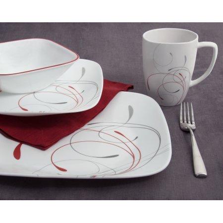 Corelle Squares 16-Piece Dinnerware Set Splendor