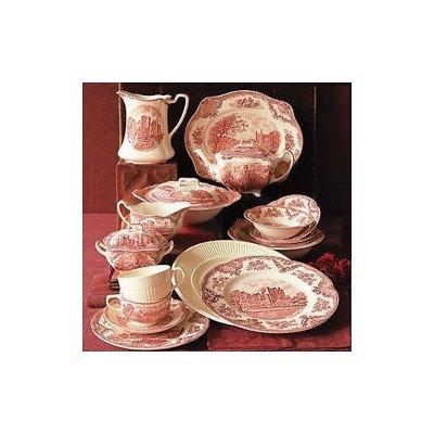Bundle-32 Old Britain Castles Pink Dinner Plate Set of 4