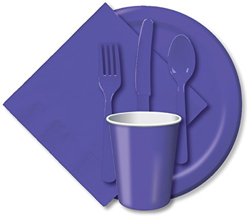 Creative Expressions Paper 9 Dinner Plate 24-Pack Purple
