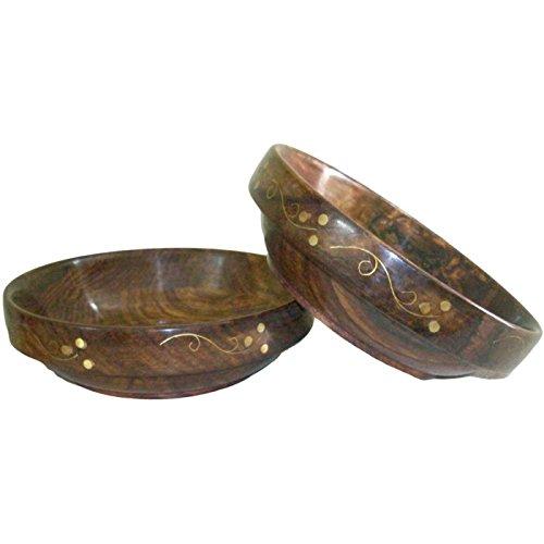 Onlineshoppee Wooden Bowls Set of 2