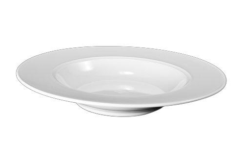 Bia Cordon Bleu White Porcelain Saturn Rim Soup Bowls Set of 4