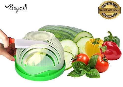 Beymill Salad Cutter Bowl Fast Finish Salad Maker FDA Approved Salad Chopper BowlHealth Salad Fruit Vegetable Slicer for Family