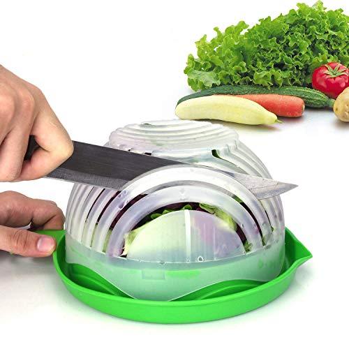 Salad Cutter Bowl Upgraded Easy Salad Maker by WEBSUN Fast Fruit Vegetable Salad Chopper Bowl Fresh Salad Slicer FDA-Approved