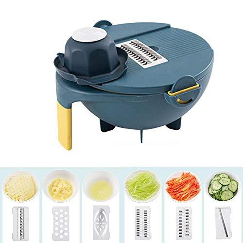 Vegetable Grater Chopper Manual Cutter Veggie Slicer Cutter Cheese Grater Julienne Slicer Easy Salad Maker Fast Fruit Vegetable Salad Chopper Bowl
