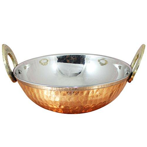Indian Copper Steel Tableware Serveware Karahi Vagetable Dinner Bowl 235 Ounce