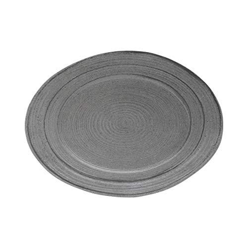 Elite Global Solutions M16512OVST-GSD Irregular Oval Serving Dish 16 12 x 12 x 1 12 h Melamine Granite Stone Design Pack of 3