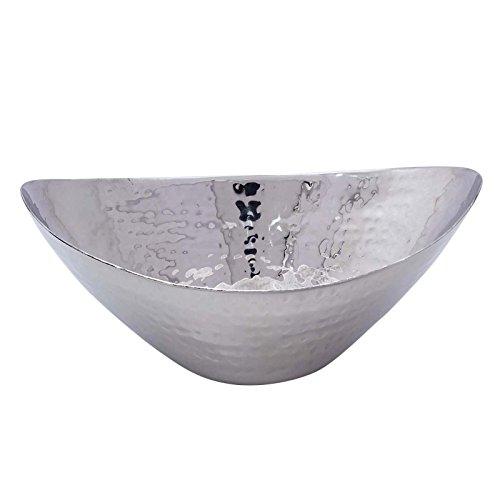 Hammered Stainless Steel Oval Serving Dish Platter Snack Bowl Serveware Utensil