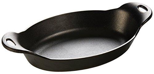 Lodge HOSD Heat Enhanced and Seasoned Cast Iron Oval Serving Dish 36-Ounce