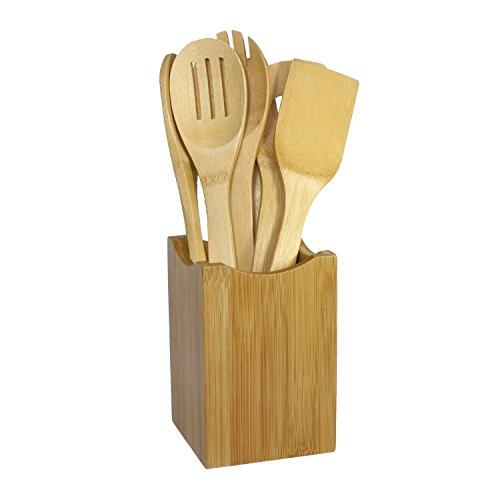 JapanBargain 7 Piece Bamboo Cooking Utensil Set