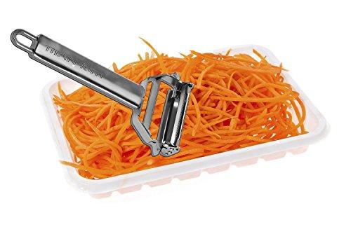 Best Julienne Vegetable Peeler Set Peels Potato Pineapple Carrot Apple Stainless Steel Paleo Kitchen Tool And