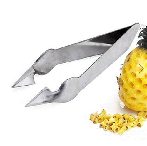 Kingso Stainless Steel Pineapple Eye Peeler Knife Pineapple Eye Remover Clip
