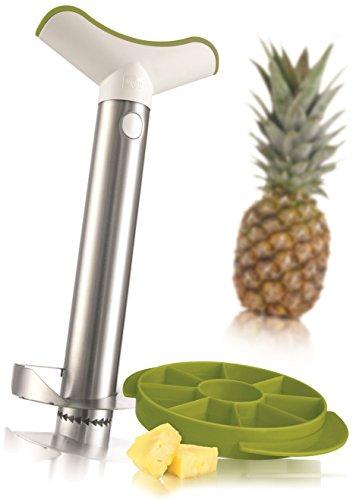 Vacu Vin 4-in-1 Pineapple Peeler, Corer, Slicer And Wedger - Stainless Steel