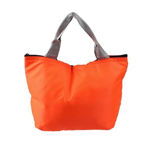 Lunch BagRuhiku Waterproof Portable Picnic Insulated Food Storage Tote Lunch Box Orange