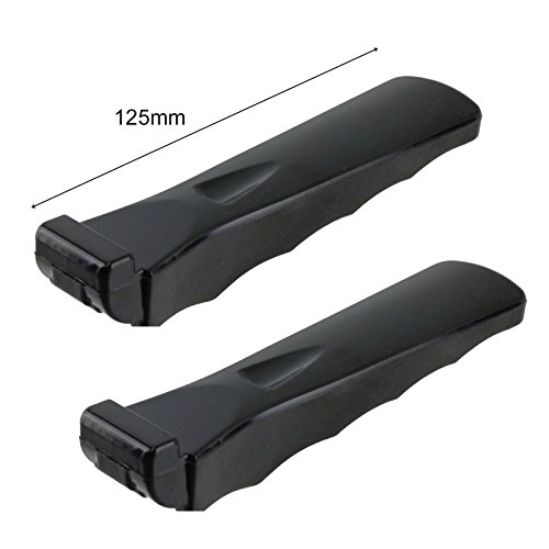 Spares2go Moulded Grip Detachable Handle For Vestel Oven Cooker Grill Pan Pack of 2