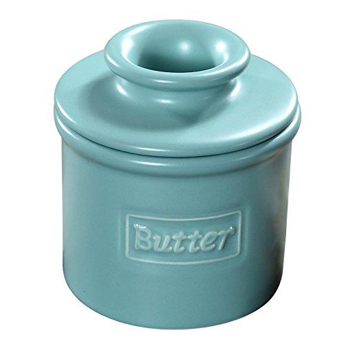 The Original Butter Bell Crock by L Tremain Cafe Matte Collection - Aqua Matte
