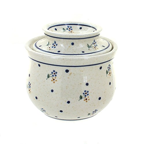 Polish Pottery Country Meadow French Butter Dish