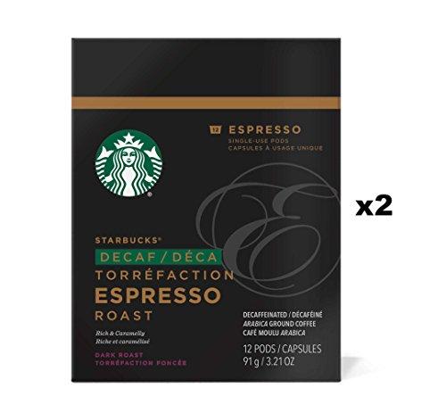 Starbucks Decaf Espresso Roast Espresso Verismo Pods 24 Count