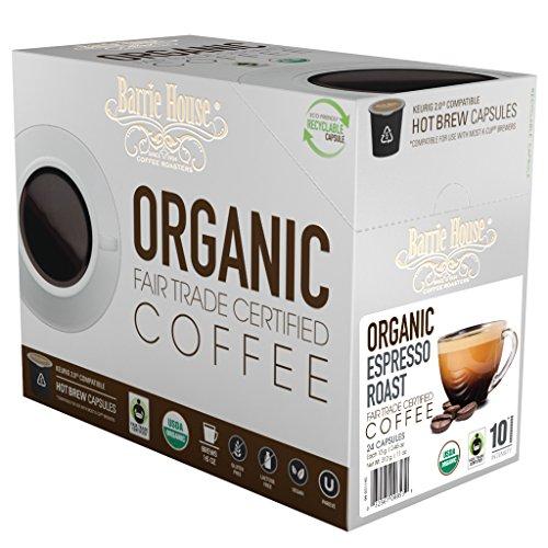 Barrie House Fair Trade Organic Espresso Roast Single Serve Capsules 24 Capsules