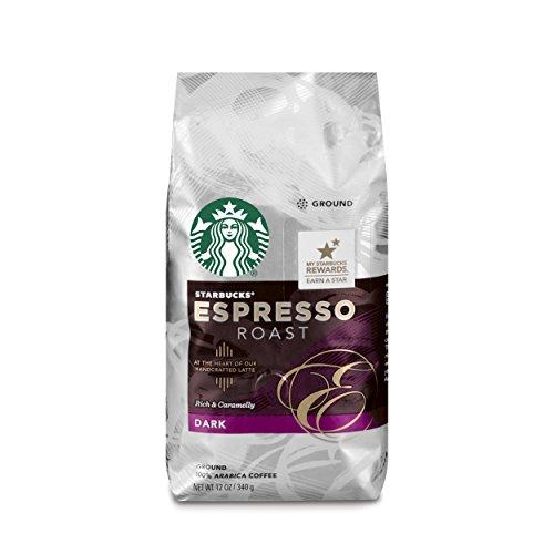 Starbucks Dark Espresso Roast Ground Coffee 12 Ounce Pack of 6