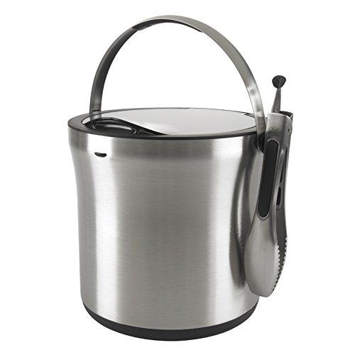 Oxo Good Grips Steel Ice Bucket And Tongs Set, Silver