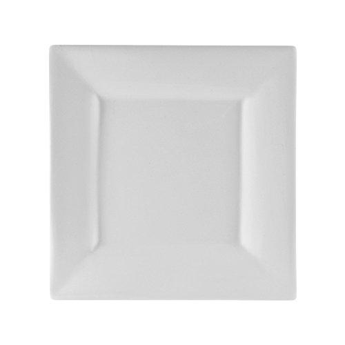 10 Strawberry Street Whittier 10125 Square Dinner Plate Set of 6 White