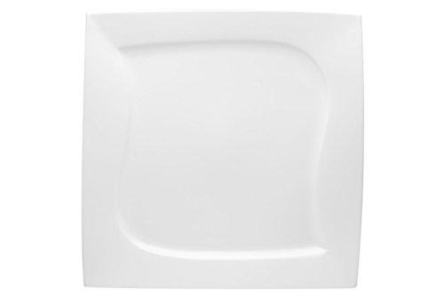 Red Vanilla Niagara Square Dinner Plate Set Of 4 10 White